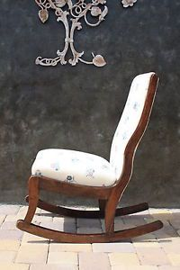 Antique American Folk Art Solid Wood Rocking Chair Crafted w Wooden Pins 1770s