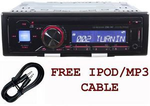 Alpine CDE 141 CD  Player Am FM Car Stereo Receiver Front USB Aux Cable 793276012326