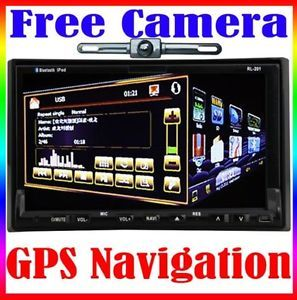 "Dual Zone GPS Nav 7"" Car Stereo CD DVD Radio Player iPod Bluetooth TV Camera Map"