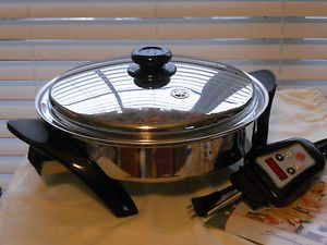 Saladmaster Titanium Electric Skillet Waterless Cookware USA New