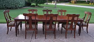 Ethan Allen British Classics Dining Table 8 Splatback Dining Chairs 29 6414