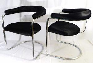 PR Bauhaus Design Thonet Mod 33 Hair Hide Modernist Art Deco Fauteil Chairs 30s