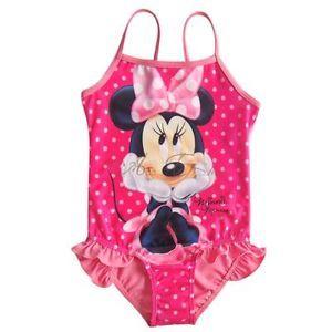Girl Baby Polka Dots Minnie Mouse Swimsuit Swimwear Swimming Costume Sz 3 8