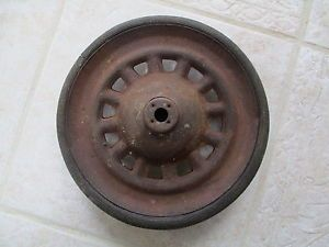 Antique Vintage Artillery Tricycle Pedal Car Toy Car or Wagon Wheel with Tire