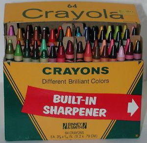Vintage Crayola Crayons 64 Colors Box