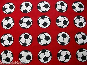 Wipe Clean PVC Football Red Oilcloth Wipeable Tablecloth Co Click for Sizes