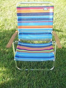 Tremendous Vintage Aluminum Folding Aloha Beach Chair Stripe Fabric 3 Beatyapartments Chair Design Images Beatyapartmentscom