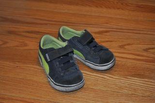 Puma Toddler Boy Blue Green Suede Shoe Size 8