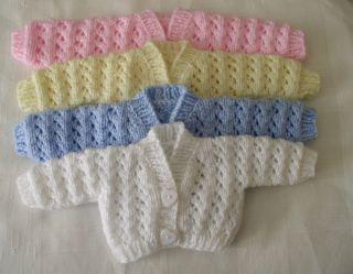 Preemie Premature Baby Reborn Newborn Baby Hand Knitted Cardigans