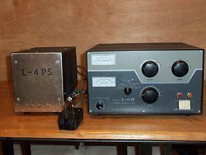 Drake L 4B L 4ps Linear Amplifier Ham Radio w Power Supply for Parts 0R Repair