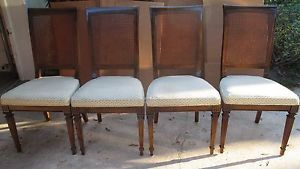 Set 4 Ethan Allen Dining Room Chairs Branded Circa 1970s