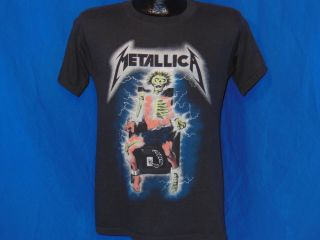 Vintage 80s Metallica Kill'Em All Electric Chair Black Soft Thin Metal T Shirt S
