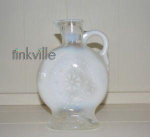 1957 Vintage White Milk Glass Decanter Bottle Vase Pitcher D 334 119 57 1