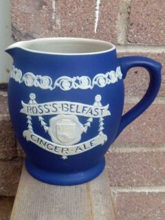 RARE Adams Jasperware Made for w A Ross Sons Ltd Ginger Ale Pitcher Mug Jug