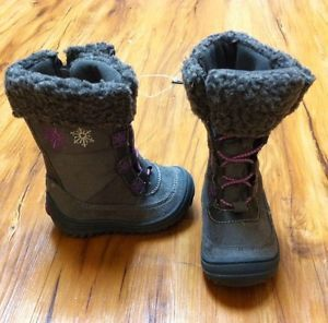 New Osh Kosh Toddler Girls Size 5 Noel Grey Fur Fashion Snow Winter Boots