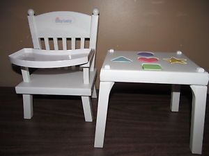 """Pleasant Company American Girl 15"""" Bitty Baby Doll High Chair Shape Puzzle Table"""