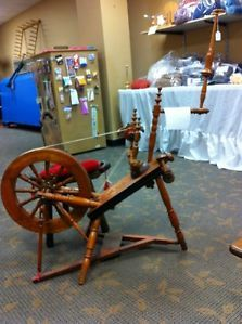 Antique Spinning Wheel and Chair