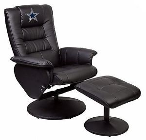 Dallas Cowboys Recliner and Ottoman Man Cave Fan Cave Chair Ottoman NFL