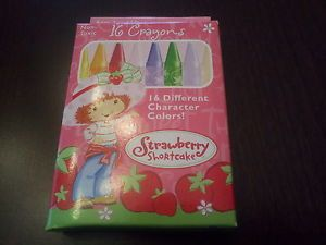 New Box Strawberry Shortcake Crayons – 16 Different Character Colors Non Toxic
