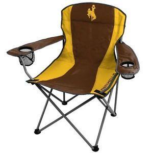 University of Wyoming Cowboys Folding Chair XL Big Boy Chairs 300 Lbs