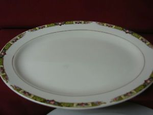 Thompson Pottery Co China Dinnerware Chartreuse Aladdin Serv Platter