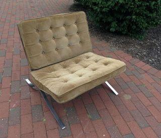Knoll Mies Van Der Rohe Bronze Flat Bar Brno Chair