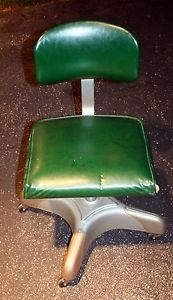 Vtg Mid Century Industrial Harter Steel Metal Green Office Desk Arm Chair RARE