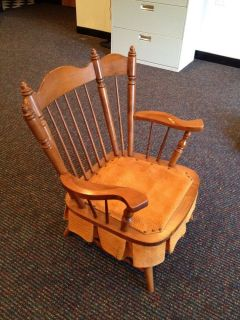 tell city solid hard rock maple andover rocking chair local pick up only