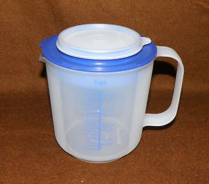 Tupperware 5 Cup Mix N STOR Batter Measuring Bowl Cup w Cover Lid New