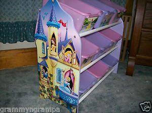 Disney Pink Lavender Princess 9 Drawer Storage Bin Toy Box for Organization