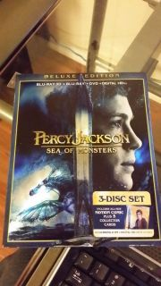 Percy Jackson Sea of Monsters Blu Ray DVD 2013 3 Disc Set Digital 3D