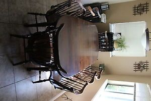 Ethan Allen Old Tavern Dining Table and 8 Chairs
