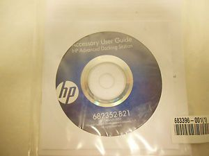 New HP Advanced Docking Station Accessory User Guide Software Disc 682352 B21