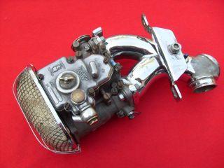 Harley Weber Dual Carb 40mm Softail Shovelhead EVO Carburetor Intake Carburator