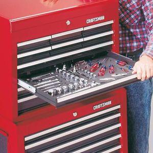 New Craftsman Tool Box Chest Foam Drawer Organizers Storage Rust Sliding Tools