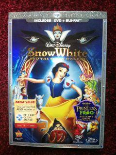 Disney Snow White The 7 Dwarfs DVD Blu Ray 2 Disc Set New Unopened Lion King