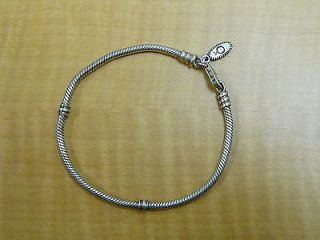 Authentic Pandora 925 Ale Sterling Silver Lobster Clasp Bracelet 7 5""