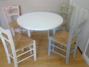 ... Pottery Barn Kids Pbk Distressed Round Table 4 Wicker Chairs Pastel Colors ... & Nice Table Mate 4 Kids Table Chair Activity Set w Pouch Carrying Case