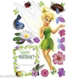 Disney Fairies Tinkerbell Moveable Decorations Stickers Birthday Party Supplies