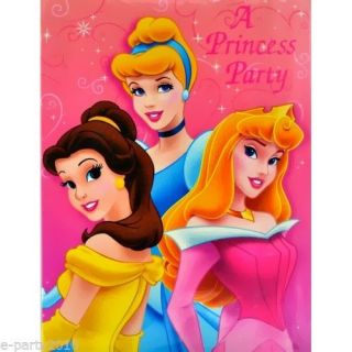16 Disney Princess Party Invitations Cinderella Birthday Supplies Tarjetas