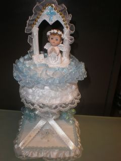 Baby Baptism Christening First Communion Centerpiece Cake Topper Decoration
