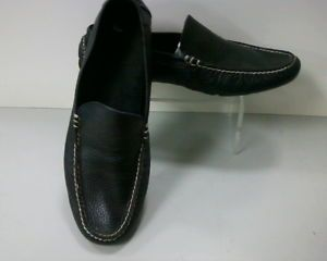 Polo Ralph Lauren Terence Mens Sz 11 Driving Moccasin Slip on Black Loafers