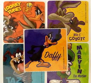 15 Bugs Bunny Looney Tunes Stickers Party Favors Daffy Duck Taz Wiley Coyote