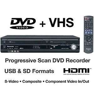 Panasonic DMR EZ48V VHS DVD Recorder Player Combo w Digital Tuner 1080p