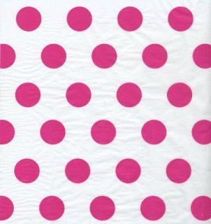 Hot Pink Polka Dot Tissue Paper Wrap 120 Large Sheets
