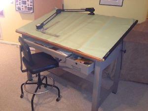 Mayline Drafting Table Drafting Machine Chair