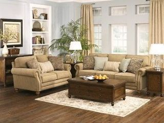 Ashley Prelude Champagne Sofa Couch Loveseat Living Room Chair Set 5580038 35