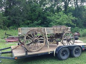 Antique Horse Drawn Wagon Buggy Vintage 1800s Wood Wheels Seat Wooden Carriage
