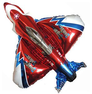 3X Red Super Fighter Jet Plane Army Air Force Plane Birthday Party Supplies
