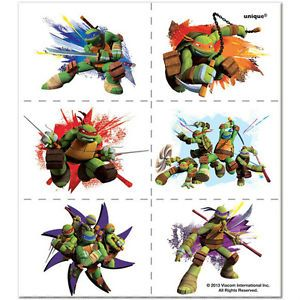 Teenage Mutant Ninja Turtles 24 Tattoos Party Favors Birthday Party Supplies